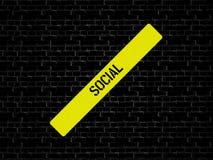 SAMKVÄM - bild med ord som förbinds med det SOCIALA MASSMEDIA för ämne, ord, bild, illustration stock illustrationer