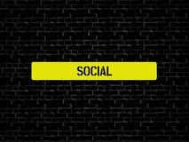 SAMKVÄM - bild med ord som förbinds med det SOCIALA MASSMEDIA för ämne, ord, bild, illustration royaltyfri illustrationer