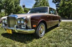 Samla av Rolls Royce och andra lyxiga bilar i Asheville North Carolina USA arkivfoton
