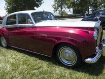 Samla av Rolls Royce och andra lyxiga bilar i Asheville North Carolina USA royaltyfria foton