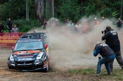 Samla bilen på Rally Victoria 2014 Royaltyfria Bilder