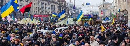 Samla för europeisk integration i mitt av Kiev Arkivfoton