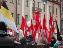 Samla för ganska val i Ryssland Arkivfoton