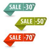 Samla försäljningstecken Arkivfoton
