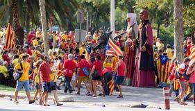 Samla fordrande självständighet för Catalonia Royaltyfri Foto