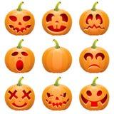 samla halloween pumpa Fotografering för Bildbyråer