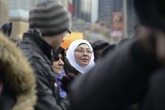 Samla mot muslimskt förbud för Donald Trump ` s i Toronto arkivfoton