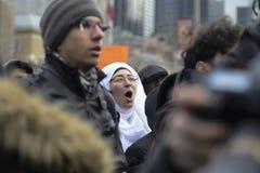 Samla mot muslimskt förbud för Donald Trump ` s i Toronto royaltyfri foto