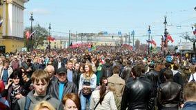 Samla på Victory Day Fotografering för Bildbyråer