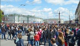 Samla på Victory Day Royaltyfri Bild