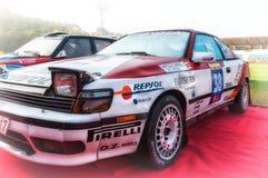 Samlar gammal tävlings- bil 1988 för TOYOTA CELICA ST 165 Arkivbilder
