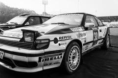 Samlar gammal tävlings- bil 1988 för TOYOTA CELICA ST 165 Arkivfoton