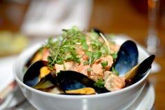 samlar musslor laxen royaltyfri fotografi
