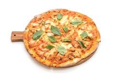 Samlar musslor pizza - italiensk mat Royaltyfria Foton