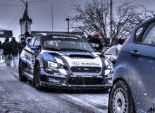 Samlar Subaru WRX STi 2015 bilen Arkivfoton