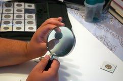 samlare för 2 mynt Fotografering för Bildbyråer