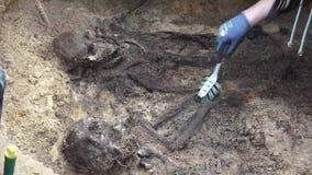 Samlas graven och gravöppning arkivfilmer
