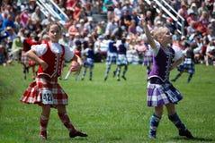 Samlas höglands- dansare Arkivbild