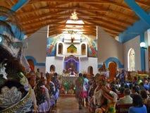 Samlas på festligheten av oskulden av Kristi födelse - Cusco Arkivbilder
