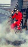 samlat rött stilbarn för industriell man fotografering för bildbyråer