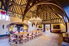 Samlesbury Hall The Great Hall Royalty Free Stock Images