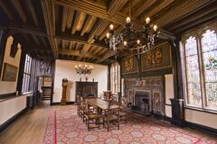 Samlesbury Hall Parlour Room Stock Photos