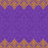 Samless purple and gold border Stock Image