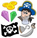 samling 5 piratkopierar Arkivbilder