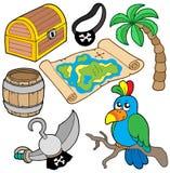 samling 7 piratkopierar Arkivbild