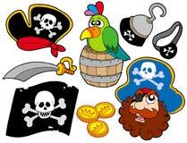 samling 8 piratkopierar stock illustrationer