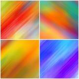 Samling av abstrakt färgglad bakgrund Lång exponeringseffekt arkivfoto