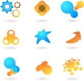 Samling av abstrakt logoer stock illustrationer
