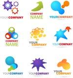 Samling av abstrakt logoer royaltyfri illustrationer
