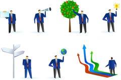 Samling av abstrakt logoer för affärsfolk Arkivbild