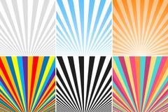 Samling av abstrakta färgrika randiga bakgrunder Royaltyfri Fotografi
