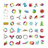 Samling av abstrakta symboler Arkivfoto