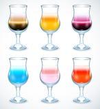 Samling av alkoholcoctailssymbolen Royaltyfria Foton