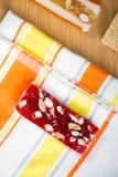 Samling av bönagodisar och sötsaker Mawlid Halawa Royaltyfria Bilder
