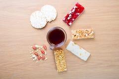 Samling av bönagodisar och sötsaker Mawlid Halawa Arkivbild
