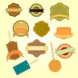 Samling av badges03 Arkivfoto