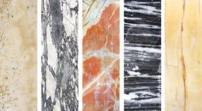 Samling av baner med marmortextur Arkivfoton