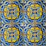Samling av blåttmodelltegelplattor Royaltyfri Bild