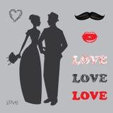 Samling av brölloptillbehör och attribut Royaltyfria Bilder