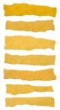 Samling av bruna texturpappersrevor Royaltyfria Foton