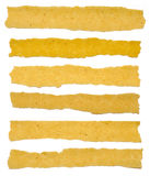 Samling av bruna texturpappersrevor Arkivbild