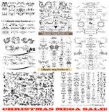 Samling av calligraphic krusidullar för vektor och sidagarnering stock illustrationer