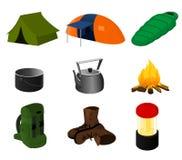 Samling av campa symboler Royaltyfri Fotografi
