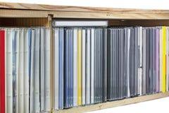 Samling av cd-skivor (CDs) Arkivbild