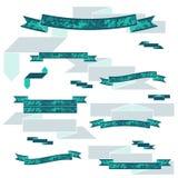 Samling av de plan färg texturerade banden Royaltyfri Fotografi