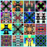 Samling av den abstrakta geometriska bakgrundsvektorillustrationen Royaltyfria Foton